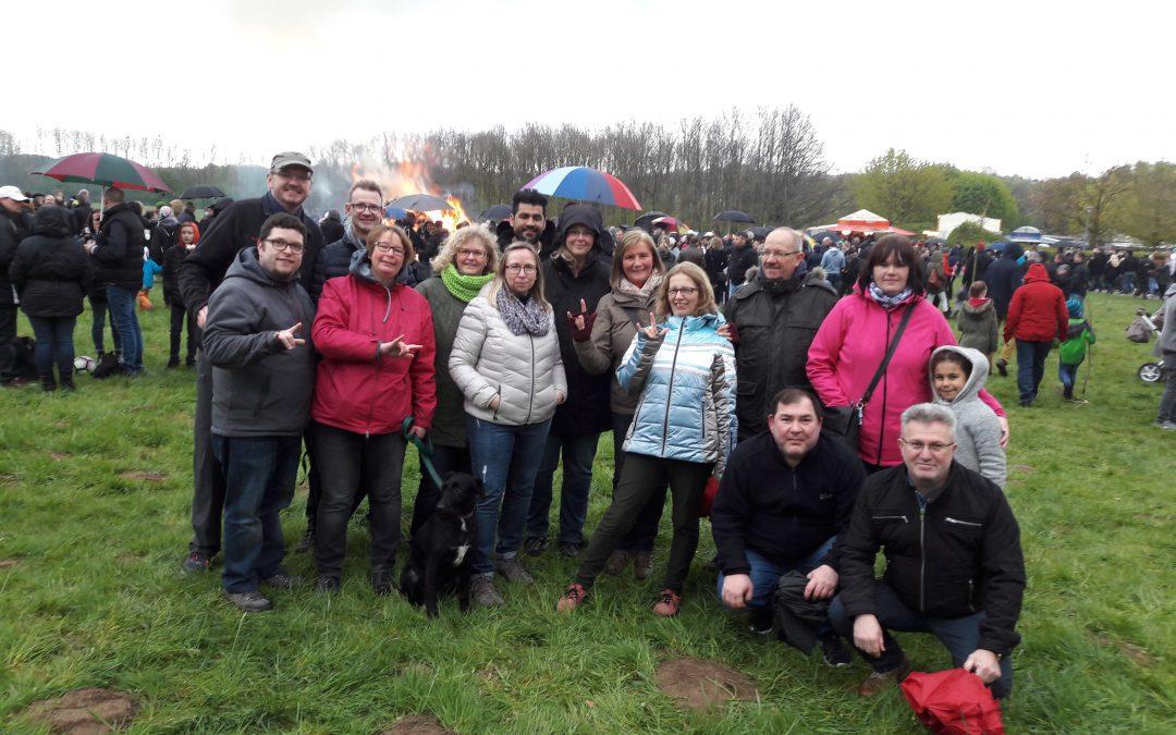Grüße vom GSV-Treffen beim Osterfeuer am Obersee
