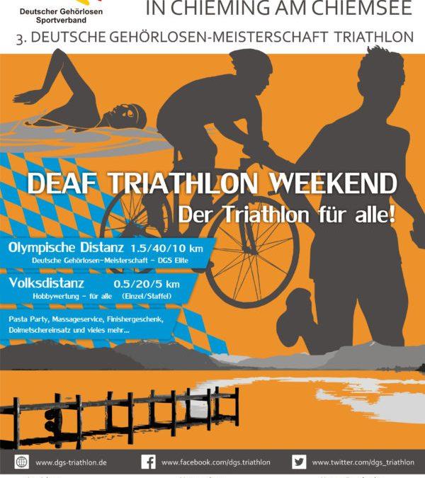 3. DG-Meisterschaft Triathlon Chiemsee