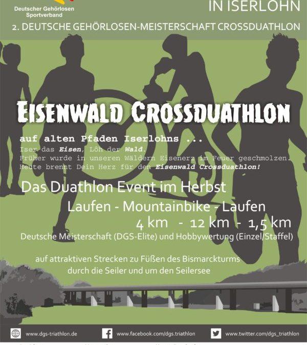 Ausschreibung für Eisenwald Crossduathlon in Iserlohn