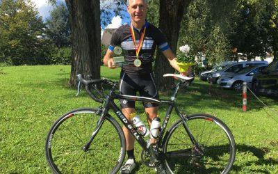 Beim Radsport  holte Martin Koppe wieder zweiter deutscher Vizemeister 2017 (16./17.September 2017)