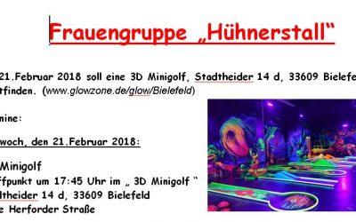 Einladung zum 3D-Minigolf am 21.02.2018
