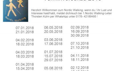 Terminvorschau 2018 – Nordic Walking