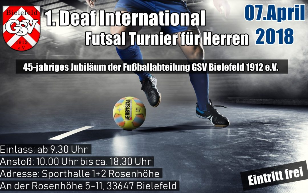 1.Deaf International Fustal Turnier für Herren