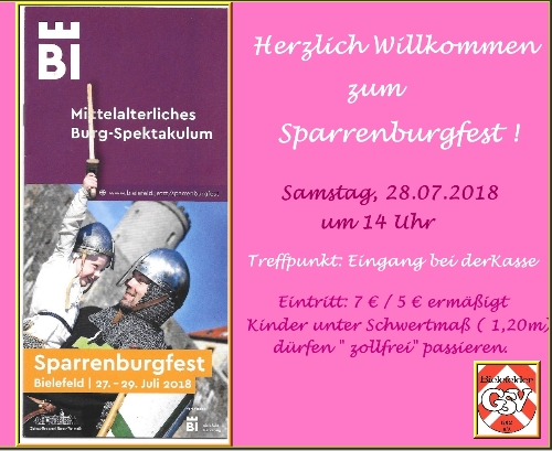 Sparrenburgfest am 28.07.2018