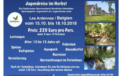 Jugendreise im CenterParcs in Les Ardennes