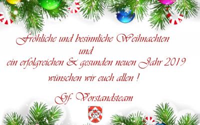 Weihnachtsgrüße vom GF-Vorstandsteam
