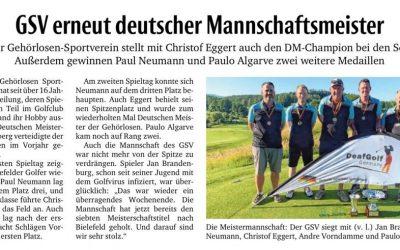 Bericht: Mannschaft und Senioren-Einzel verteidigen erneut DM-Titel Golf