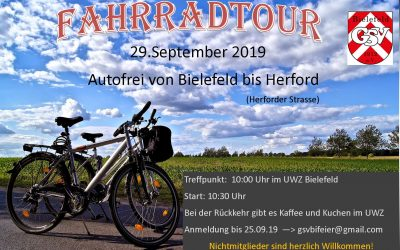 Fahrradtour  von Bielefeld-Herford
