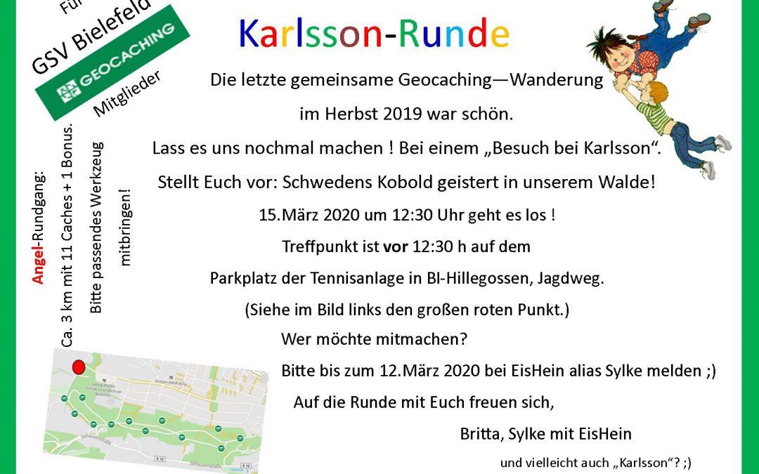 Geocaching-Wanderung, 15.März 2020