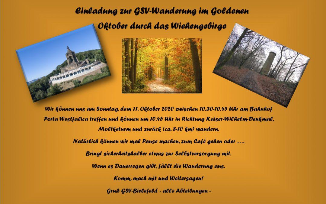 Einladung zur Wanderung am 11. Oktober 2020