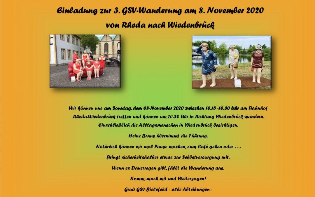 Einladung zur Wanderung am 8.November 2020